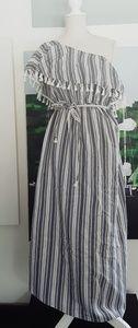 NWT ISABELE MATERNITY DENIM & WHITE STRIPE DRESS